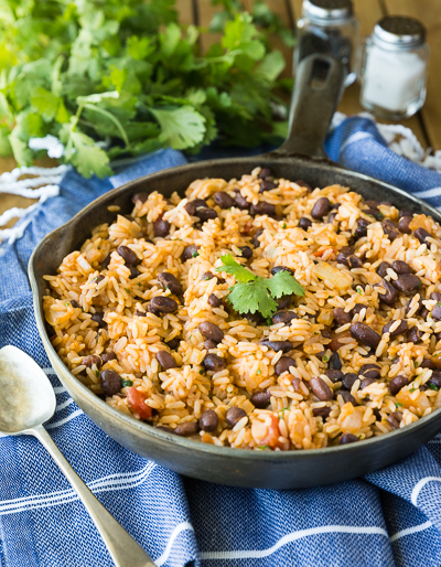 Easy Spanish Rice with Beans Recipe