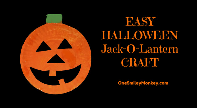 Halloween Jack-O-Lantern craft
