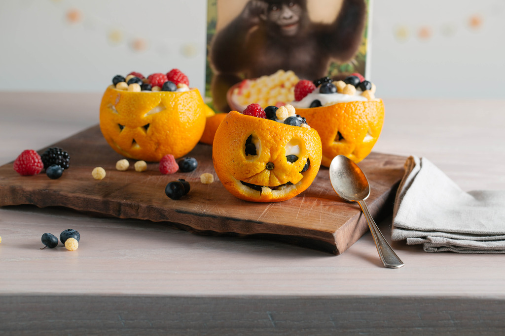 Easy Halloween Snack Recipes { Boo-Nanas and Jack-O-Lanters}