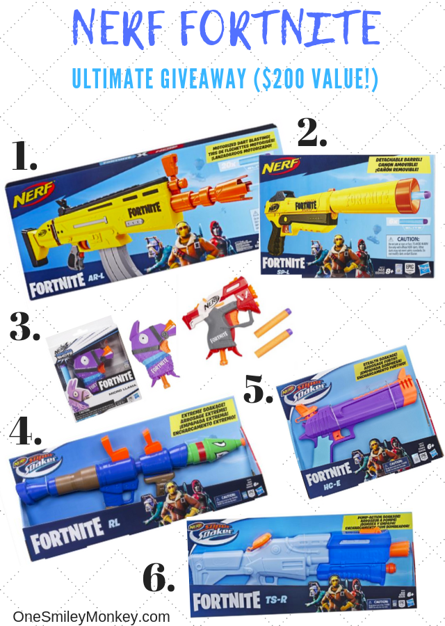 The Ultimate NERF Fortnite Giveaway {$200 value)