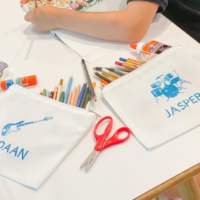 DIY Personalized Pencil and School Supply Bags