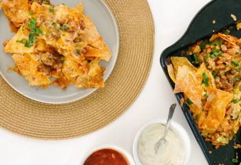 Easy and Delicious Baked Beans and Beef Nachos Recipe
