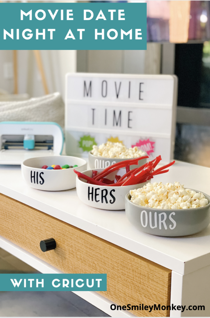 Movie Date Night At Home with Cricut DIY